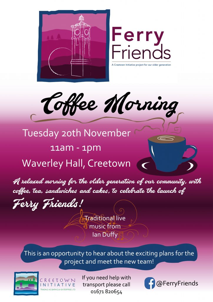 Ferry Friends Coffee Morning Poster Creetown Initiative