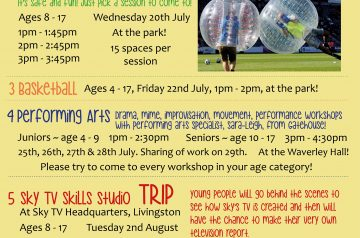 Youth Summer Activities 2016 Poster